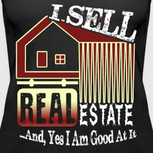 REAL ESTATE AGENT SHIRT I SELL REAL ESTATE SHIRT - Women's Premium Tank Top