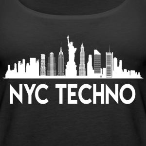 NYC Techno Skyline - Women's Premium Tank Top