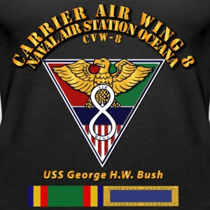 Carrier Air Wing 8 Black T Shirt - Women's Premium Tank Top