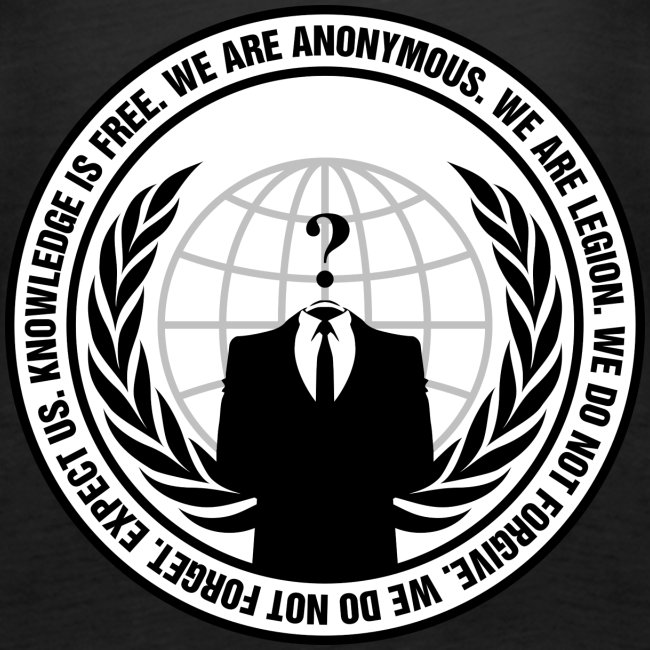 Anonymous Logo With Slogan png