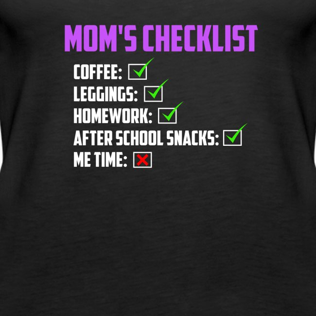 Mom Checklist- Momlife