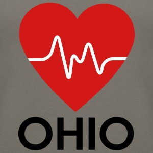 Heart Ohio - Women's Premium Tank Top