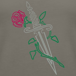 Rose with Knife - Women's Premium Tank Top