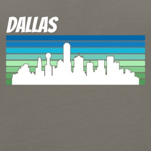 Retro Dallas Skyline - Women's Premium Tank Top