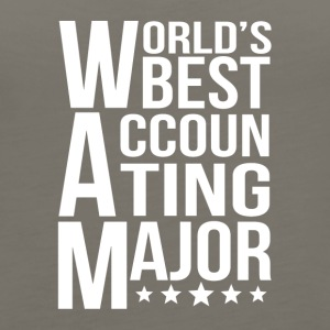 World's Best Accounting Major - Women's Premium Tank Top