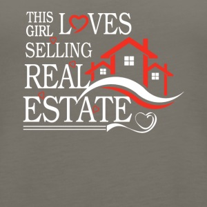 This Girl Loves Sellin Real Estate Shirt - Women's Premium Tank Top