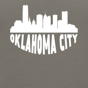 Oklahoma City OK Cityscape Skyline - Women's Premium Tank Top