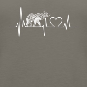 Elephant Heartbeat Shirt - Women's Premium Tank Top
