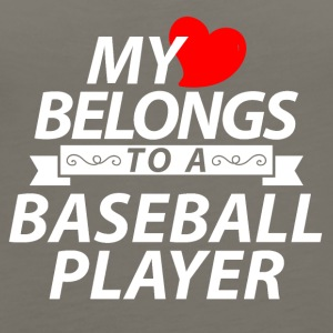 My heart belongs to a Baseball player - Women's Premium Tank Top