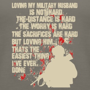Love My Military Husband Shirt - Women's Premium Tank Top