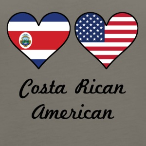 Costa Rican American Flag Hearts - Women's Premium Tank Top