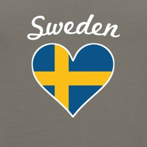 Sweden Flag Heart - Women's Premium Tank Top