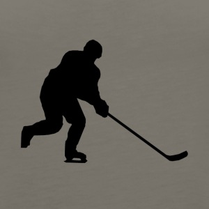 Hockey Player Silhouette - Women's Premium Tank Top