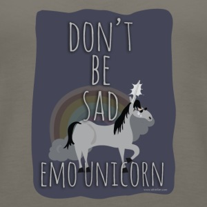 The Sad Emo Unicorn - Women's Premium Tank Top