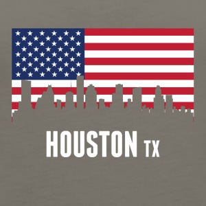 American Flag Houston Skyline - Women's Premium Tank Top