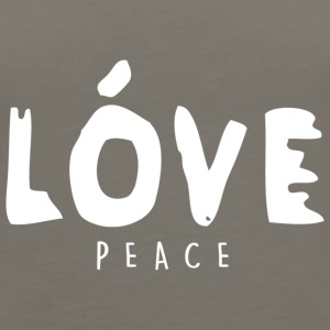 Love Peace - High Fashion Paint Design (White) - Women's Premium Tank Top