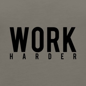 Work Harder - Women's Premium Tank Top