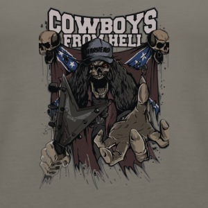 Skull Cowboys from Hell Cyber System - Women's Premium Tank Top