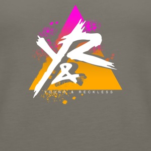 Young Reckless Pyramid Gradient Abstract - Women's Premium Tank Top