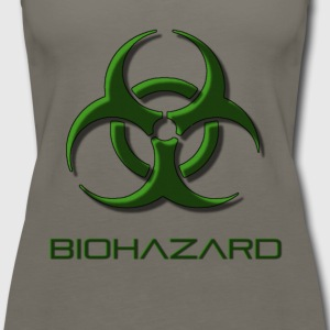 Green biohazard warning, toxic waste danger symbol - Women's Premium Tank Top