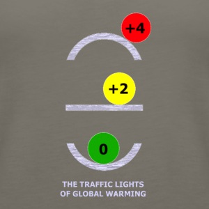 TRAFFIC LIGHTS OF GLOBAL WARMING - Women's Premium Tank Top