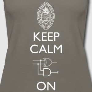Keep Calm and Carry On T Shirt - Women's Premium Tank Top