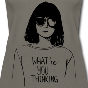 WHAT'RE YOU THINKING - Women's Premium Tank Top