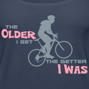 Cycling Always Gets Better - Women's Premium Tank Top