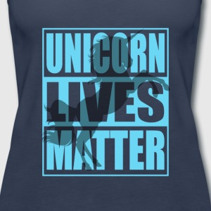 Funny Unicorn Lives Matter Humor Quotes Apparel - Women's Premium Tank Top