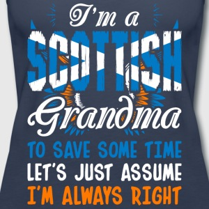 Im A Scottish Grandma - Women's Premium Tank Top