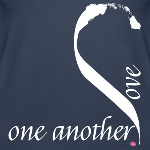 Love one another in white - Women's Premium Tank Top