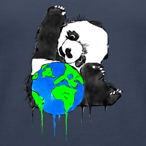 Earth Day Panda, Earth Bear - Women's Premium Tank Top