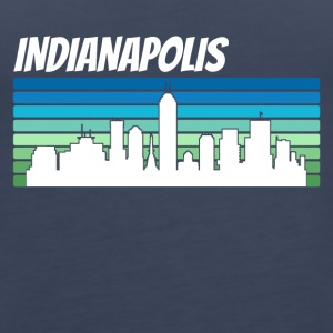 Retro Indianapolis Skyline - Women's Premium Tank Top