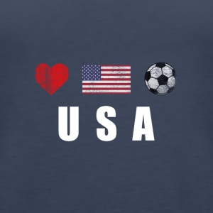 United States Football American Soccer T-shirt - Women's Premium Tank Top