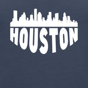 Houston TX Cityscape Skyline - Women's Premium Tank Top