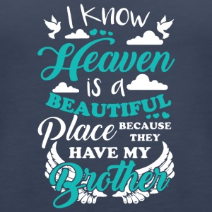 My Brother In Heaven T Shirt - Women's Premium Tank Top