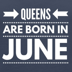 Queens Born June - Women's Premium Tank Top