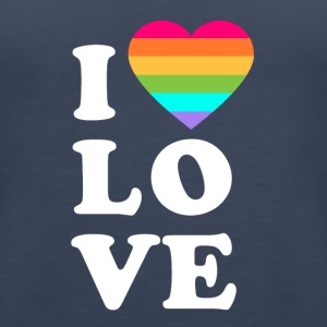 I love LGBT - Women's Premium Tank Top