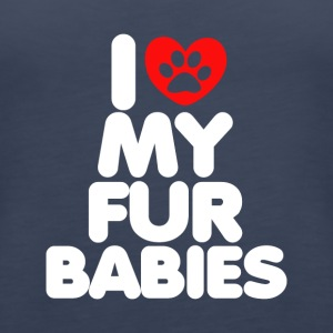 I Love My Fur Babies T-Shirt - Women's Premium Tank Top