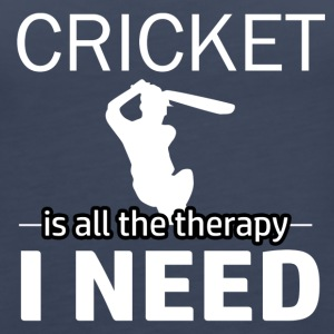Cricket is my therapy - Women's Premium Tank Top