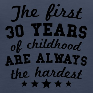 30 Years Of Childhood 30th Birthday - Women's Premium Tank Top