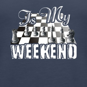 This Is My Weekend Chess Tshirt - Women's Premium Tank Top