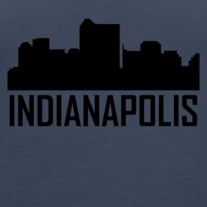 Indianapolis Indiana City Skyline - Women's Premium Tank Top