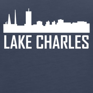 Lake Charles Louisiana City Skyline - Women's Premium Tank Top