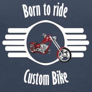 Born to ride Custom Bike - Women's Premium Tank Top
