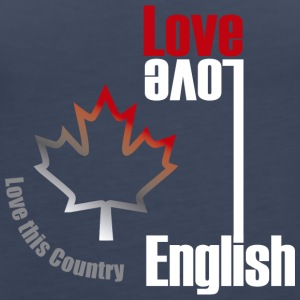 Love English, love Canada - Women's Premium Tank Top