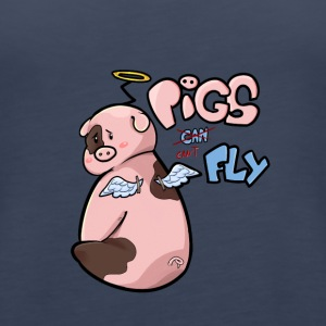 Pigs can't Fly - Women's Premium Tank Top