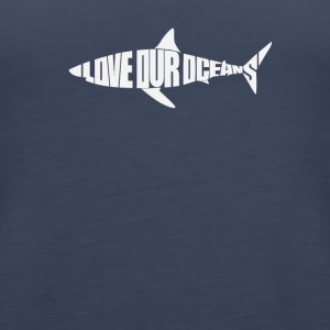 Love Our Oceans Shark - Women's Premium Tank Top