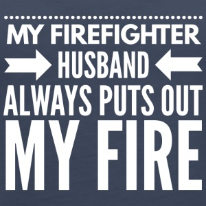 My firefighter husband - Women's Premium Tank Top
