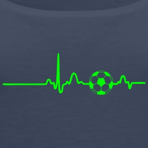 EKG HEARTBEAT SOCCER green - Women's Premium Tank Top
